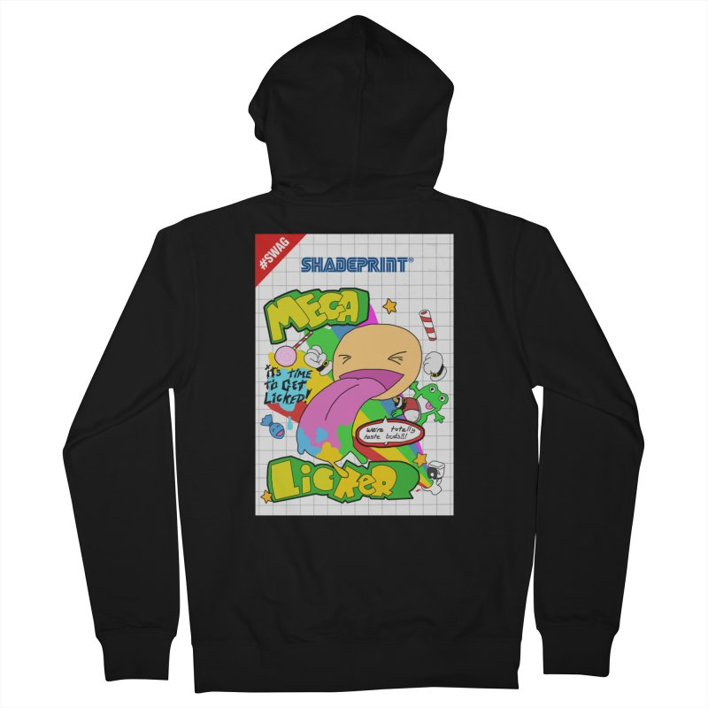 Mega Licker! [Cartridge Sleeve Art Work]. Men's Zip-Up Hoody by Shadeprint's Artist Shop