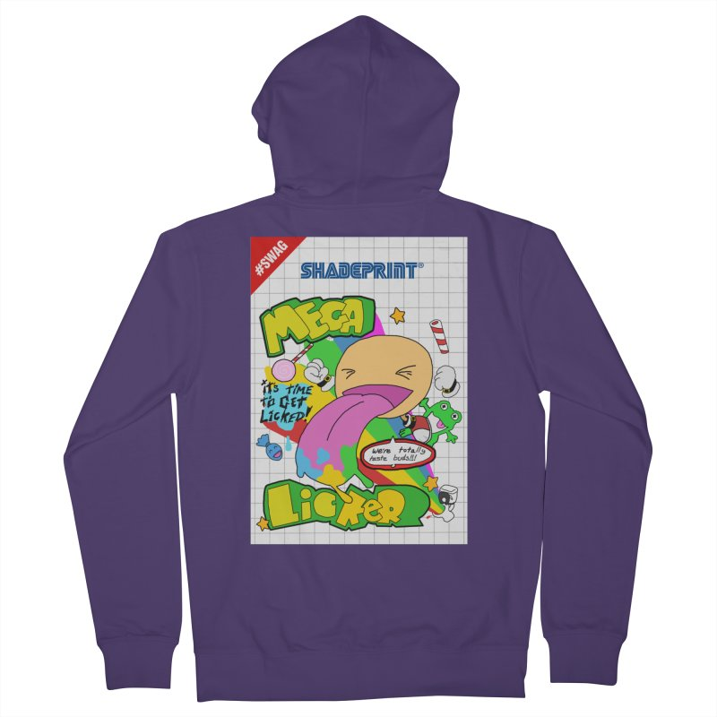 Mega Licker! [Cartridge Sleeve Art Work]. Women's Zip-Up Hoody by Shadeprint's Artist Shop