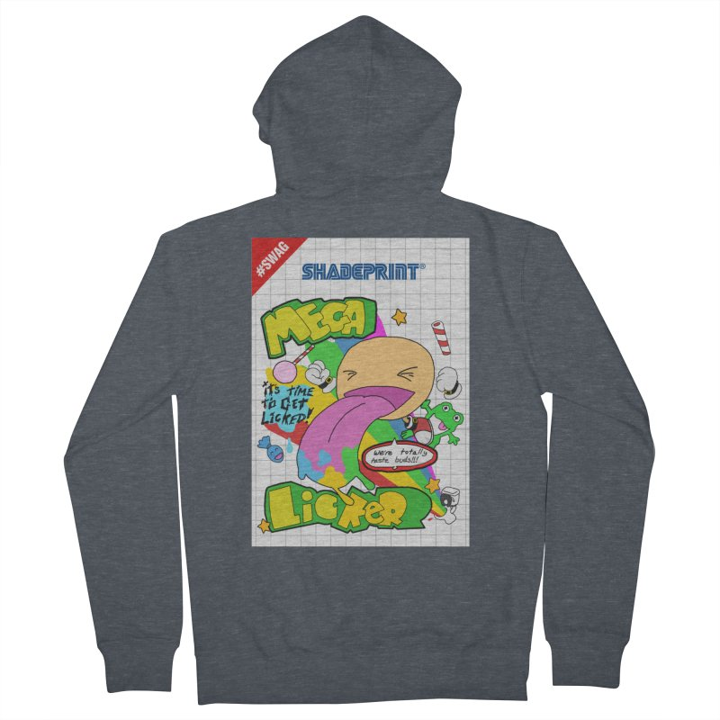 Mega Licker! [Cartridge Sleeve Art Work]. Men's Zip-Up Hoody by Shadeprint's Artist Shop