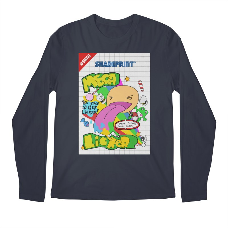 Mega Licker! [Cartridge Sleeve Art Work]. Men's Regular Longsleeve T-Shirt by Shadeprint's Artist Shop
