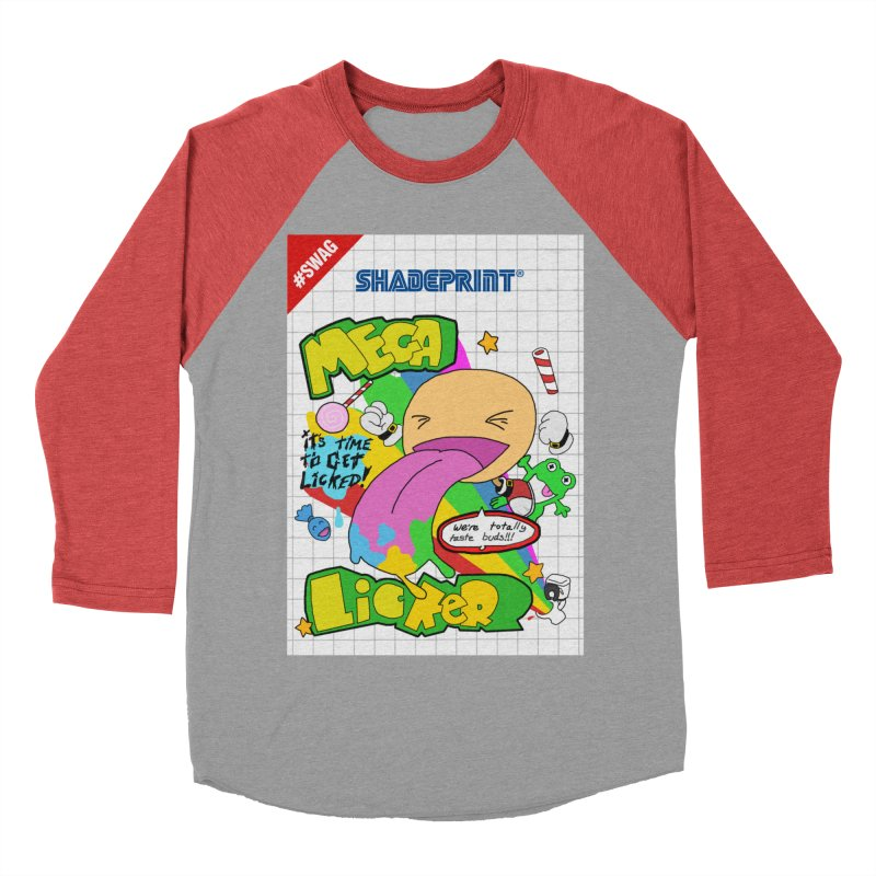 Mega Licker! [Cartridge Sleeve Art Work]. Men's Baseball Triblend T-Shirt by Shadeprint's Artist Shop