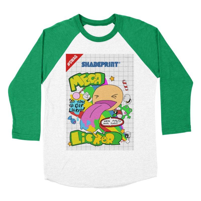 Mega Licker! [Cartridge Sleeve Art Work]. Men's Baseball Triblend Longsleeve T-Shirt by Shadeprint's Artist Shop
