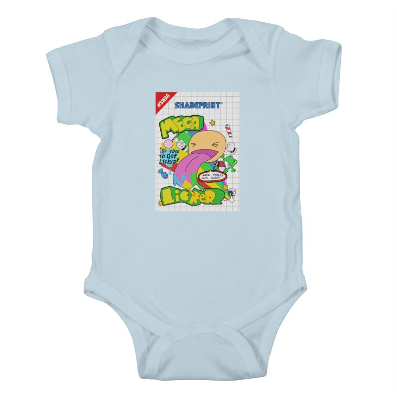 Mega Licker! [Cartridge Sleeve Art Work]. Kids Baby Bodysuit by Shadeprint's Artist Shop