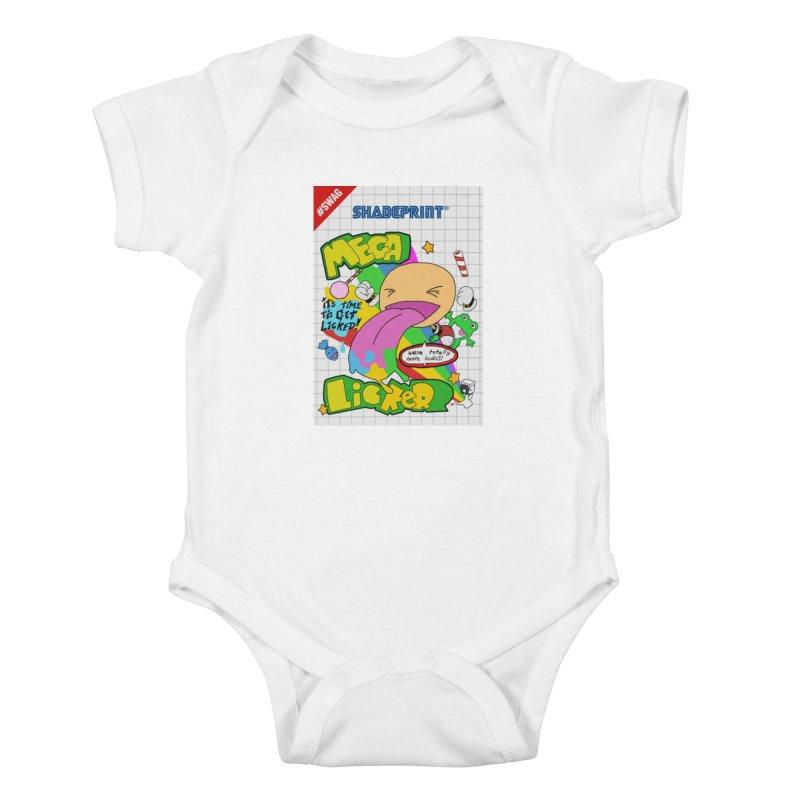 Mega Licker! [Cartridge Sleeve Art Work]. Kids Baby Bodysuit by Shadeprint's Artist Shop