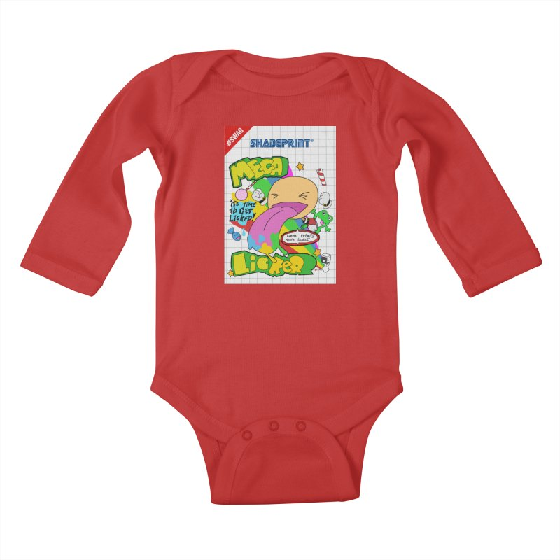 Mega Licker! [Cartridge Sleeve Art Work]. Kids Baby Longsleeve Bodysuit by Shadeprint's Artist Shop