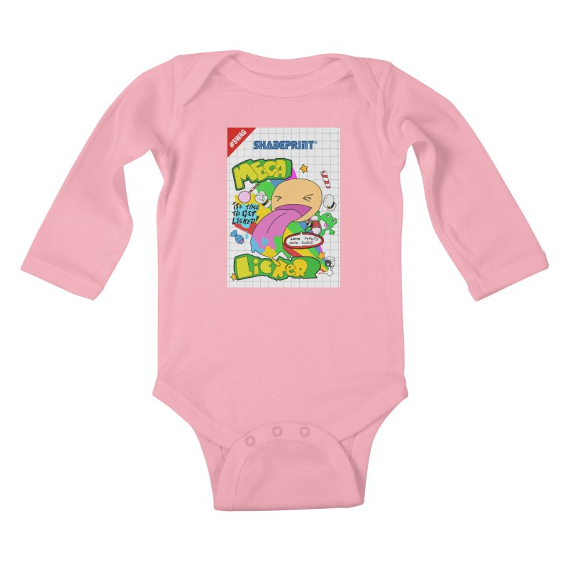Mega Licker! [Cartridge Sleeve Art Work]. Kids Baby Longsleeve Bodysuit by Shadeprint's Artist Shop