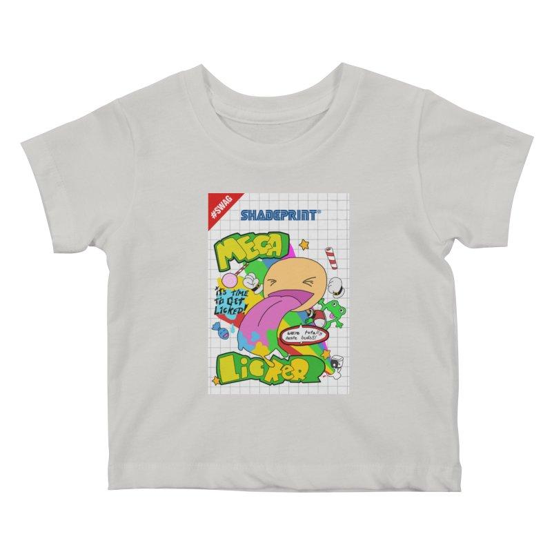 Mega Licker! [Cartridge Sleeve Art Work]. Kids Baby T-Shirt by Shadeprint's Artist Shop