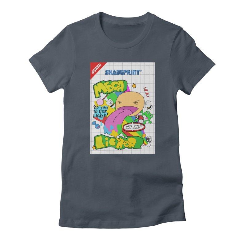 Mega Licker! [Cartridge Sleeve Art Work]. Women's T-Shirt by SHADEPRINT.DESIGN
