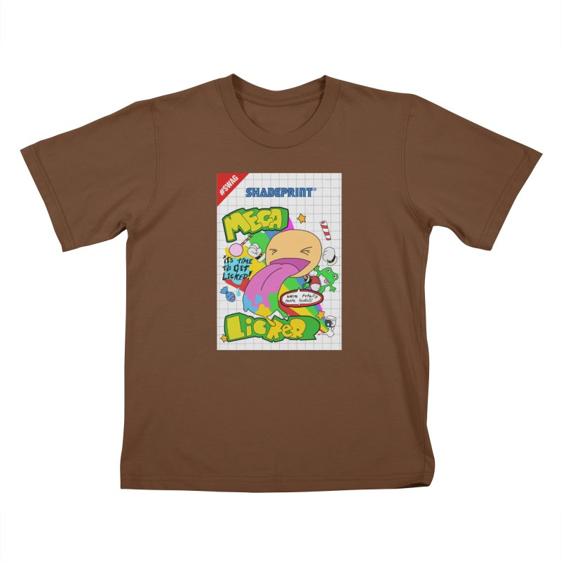 Mega Licker! [Cartridge Sleeve Art Work]. Kids T-Shirt by Shadeprint's Artist Shop