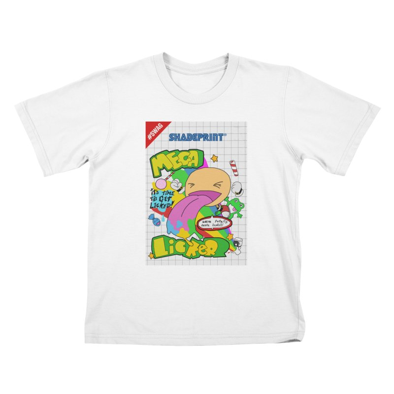 Mega Licker! [Cartridge Sleeve Art Work]. Kids T-Shirt by Shadeprint's Artist Shop