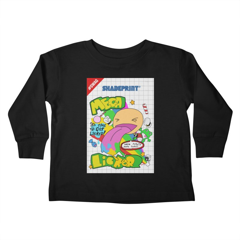 Mega Licker! [Cartridge Sleeve Art Work]. Kids Toddler Longsleeve T-Shirt by Shadeprint's Artist Shop