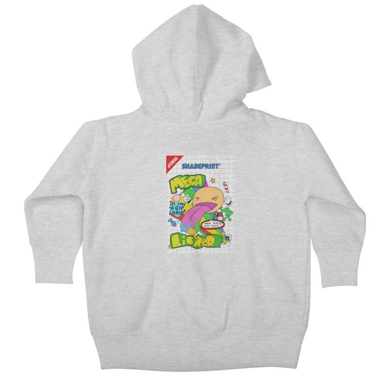 Mega Licker! [Cartridge Sleeve Art Work]. Kids Baby Zip-Up Hoody by Shadeprint's Artist Shop