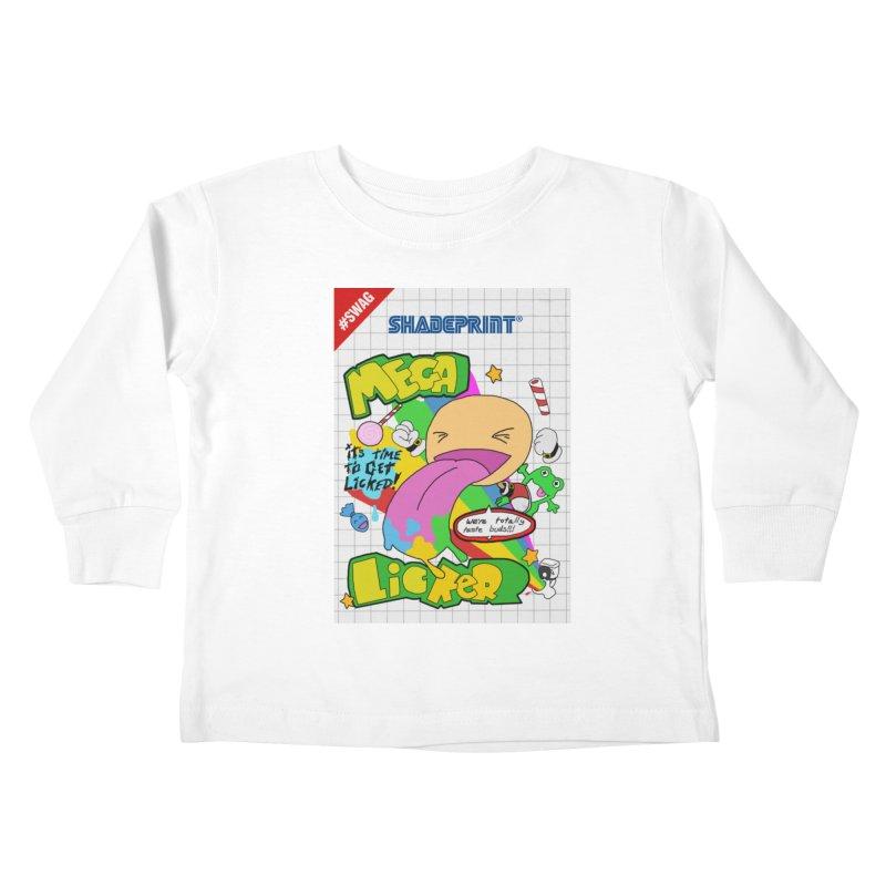 Mega Licker! [Cartridge Sleeve Art Work]. Kids Toddler Longsleeve T-Shirt by Shadeprint's Artist Shop