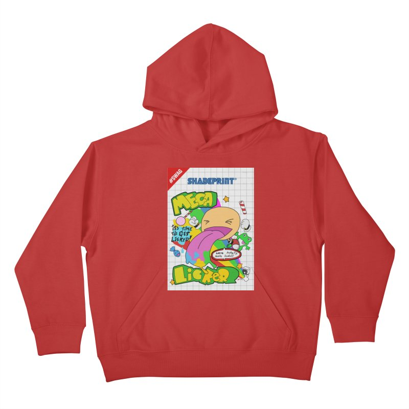 Mega Licker! [Cartridge Sleeve Art Work]. Kids Pullover Hoody by Shadeprint's Artist Shop