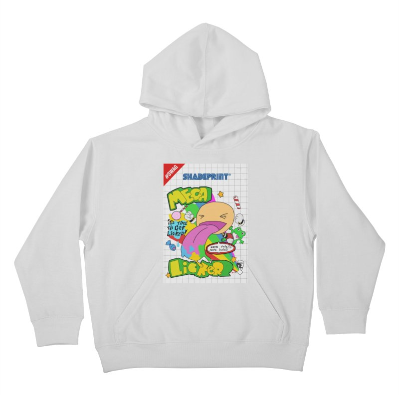 Mega Licker! [Cartridge Sleeve Art Work]. Kids Pullover Hoody by Shadeprint's Artist Shop