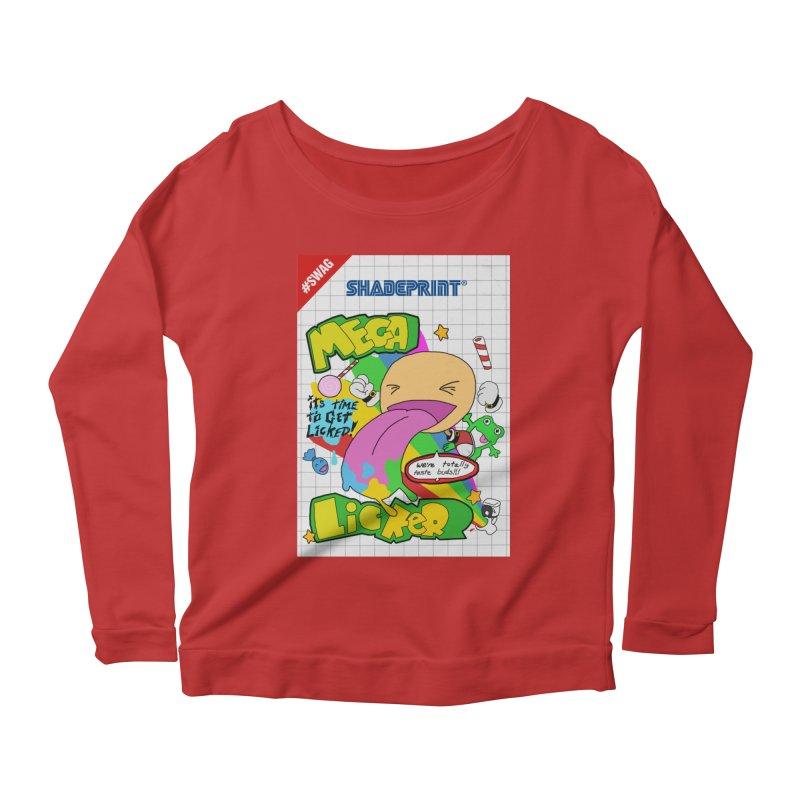Mega Licker! [Cartridge Sleeve Art Work]. Women's Scoop Neck Longsleeve T-Shirt by Shadeprint's Artist Shop