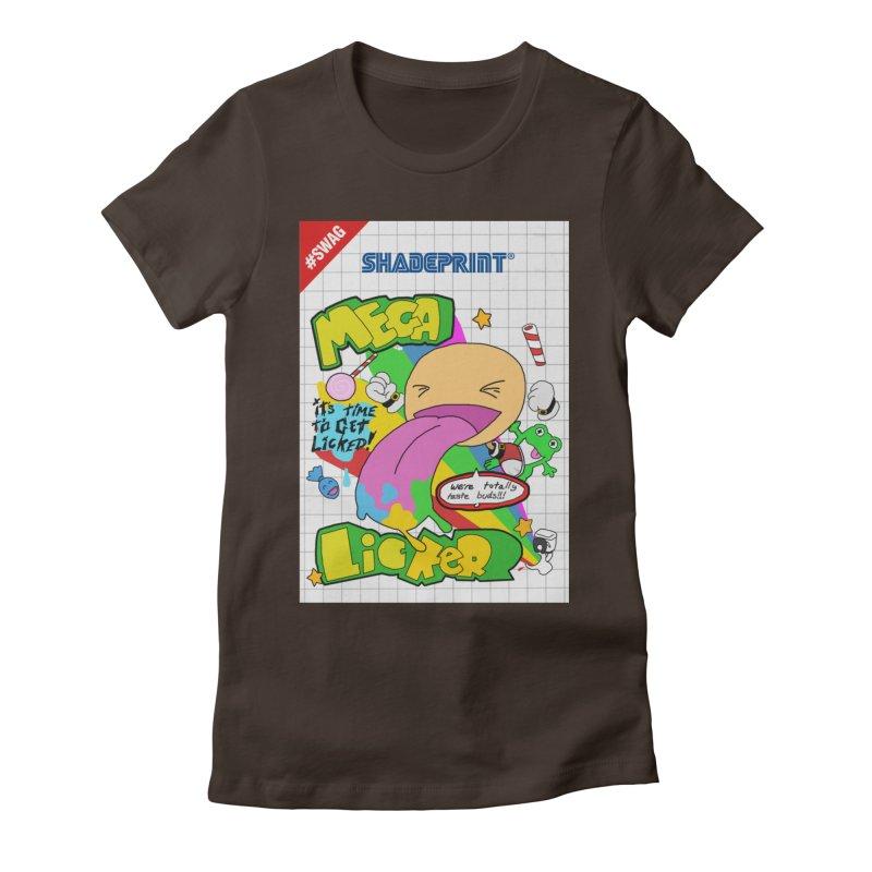 Mega Licker! [Cartridge Sleeve Art Work]. Women's Fitted T-Shirt by Shadeprint's Artist Shop