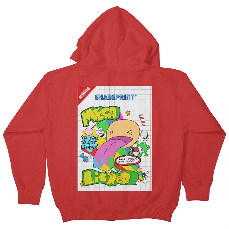 Mega Licker! [Cartridge Sleeve Art Work]. Kids Zip-Up Hoody by Shadeprint's Artist Shop