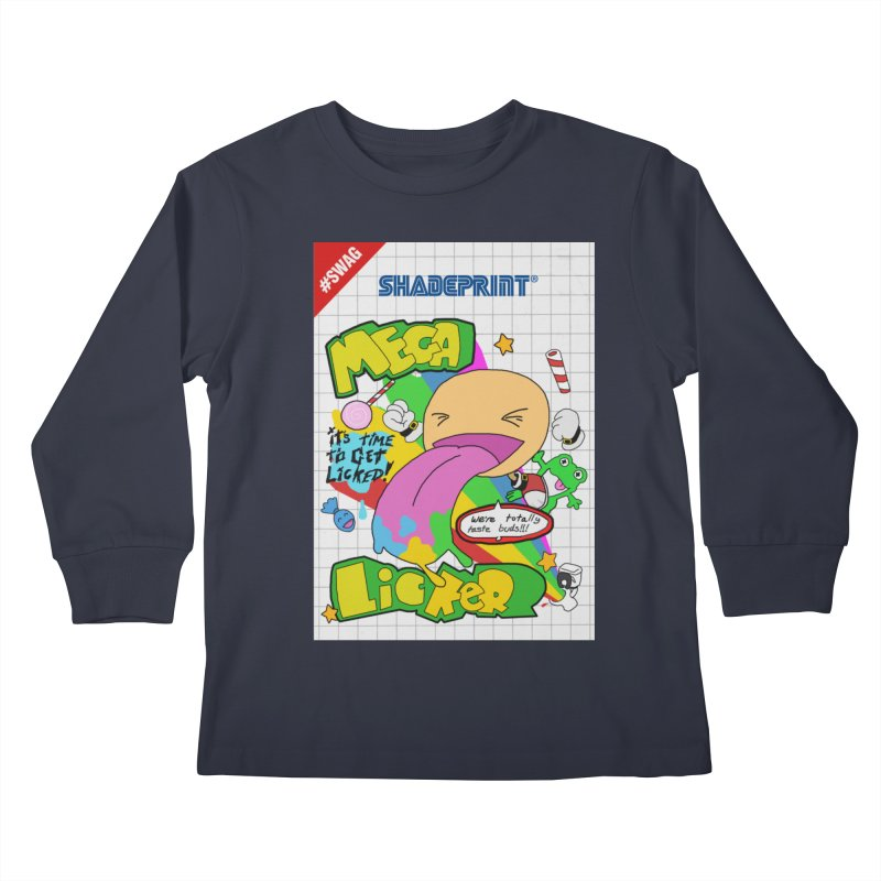 Mega Licker! [Cartridge Sleeve Art Work]. Kids Longsleeve T-Shirt by Shadeprint's Artist Shop
