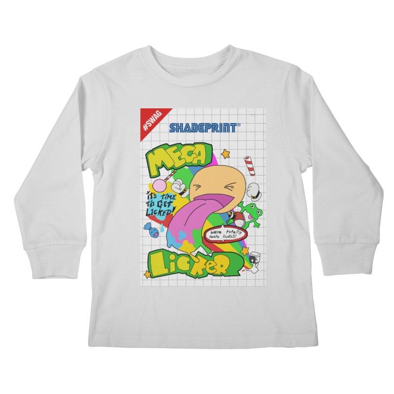 Mega Licker! [Cartridge Sleeve Art Work]. Kids Longsleeve T-Shirt by Shadeprint's Artist Shop