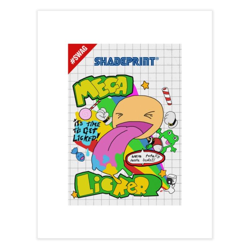 Mega Licker! [Cartridge Sleeve Art Work]. Home Fine Art Print by Shadeprint's Artist Shop
