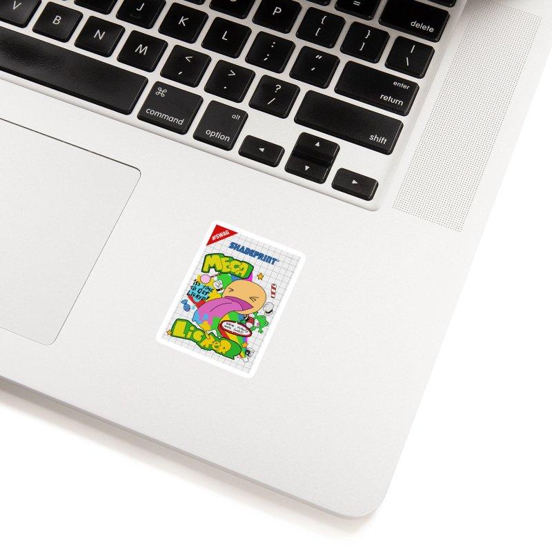Mega Licker! [Cartridge Sleeve Art Work]. Accessories Sticker by Shadeprint's Artist Shop