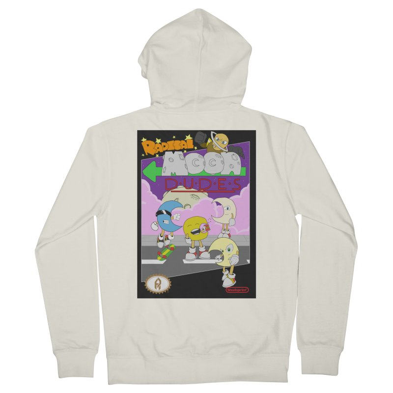 Radical Moon Dudes (Official Box Art) Men's French Terry Zip-Up Hoody by Shadeprint's Artist Shop