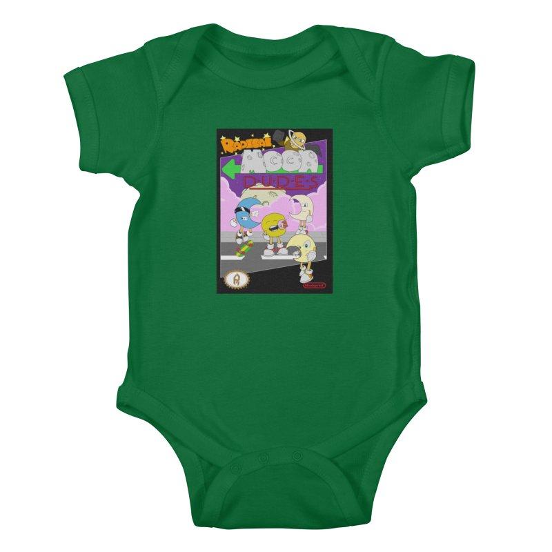 Radical Moon Dudes (Official Box Art) Kids Baby Bodysuit by Shadeprint's Artist Shop