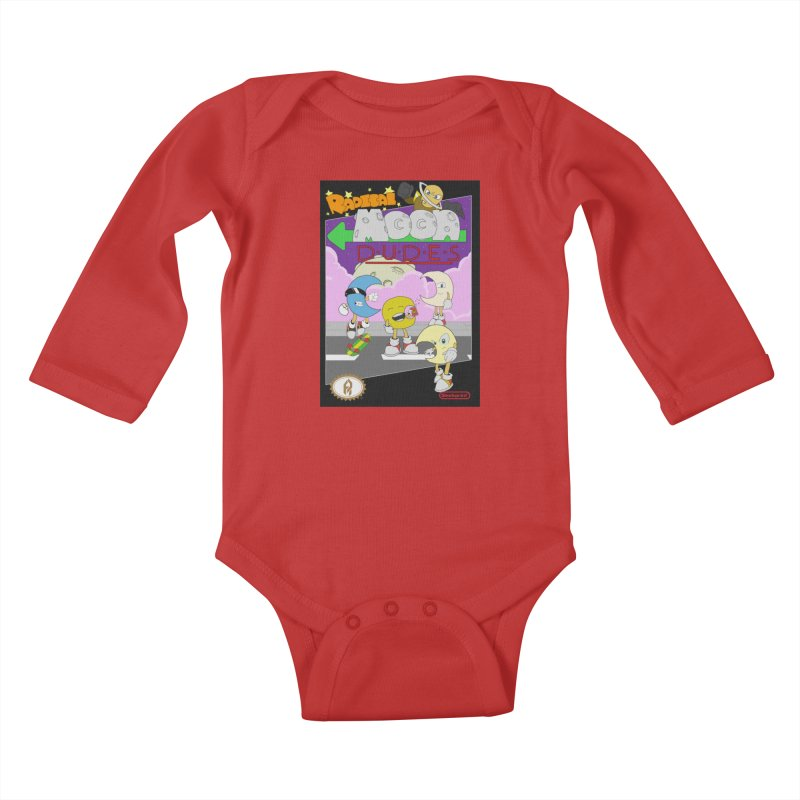 Radical Moon Dudes (Official Box Art) Kids Baby Longsleeve Bodysuit by Shadeprint's Artist Shop