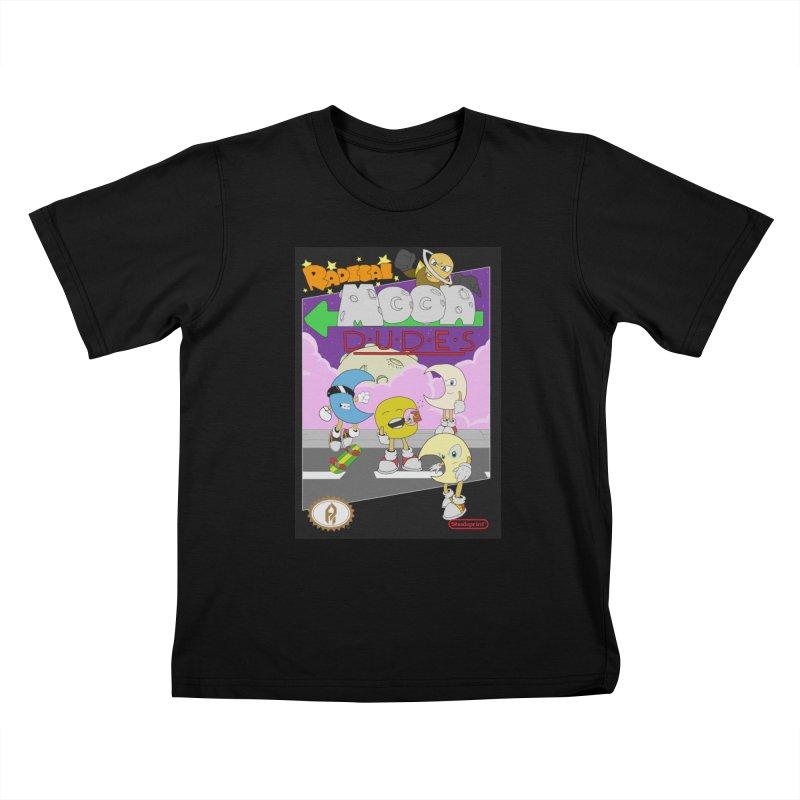 Radical Moon Dudes (Official Box Art) Kids T-Shirt by Shadeprint's Artist Shop