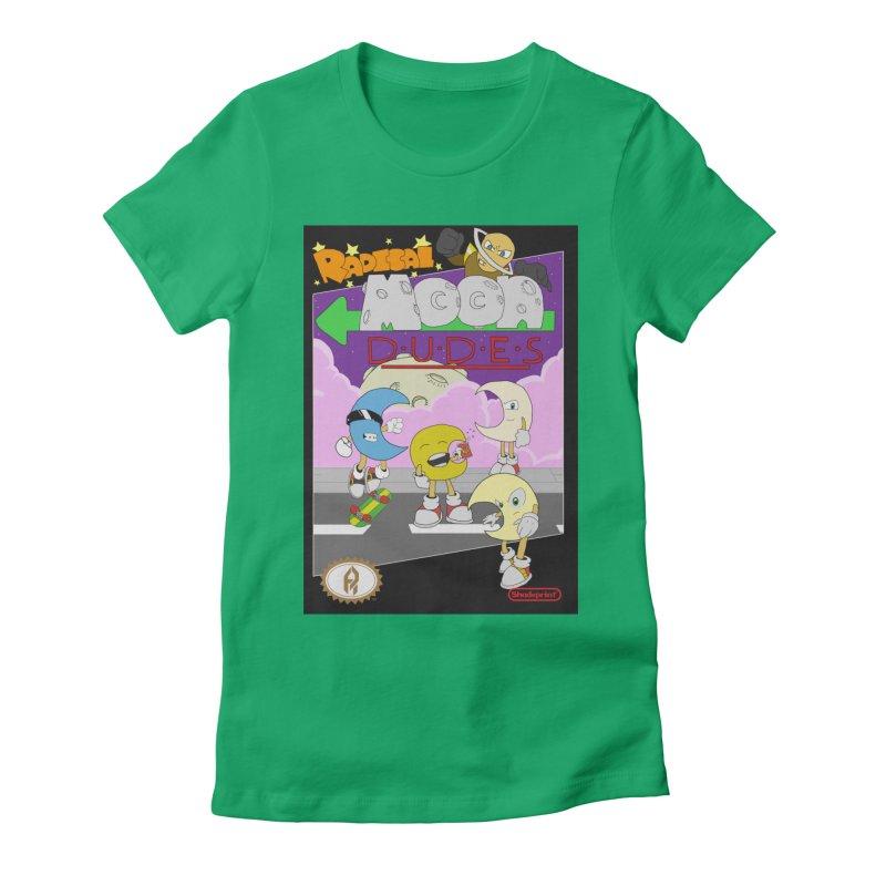 Radical Moon Dudes (Official Box Art) Women's Fitted T-Shirt by Shadeprint's Artist Shop