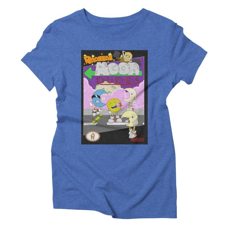 Radical Moon Dudes (Official Box Art) Women's Triblend T-Shirt by Shadeprint's Artist Shop