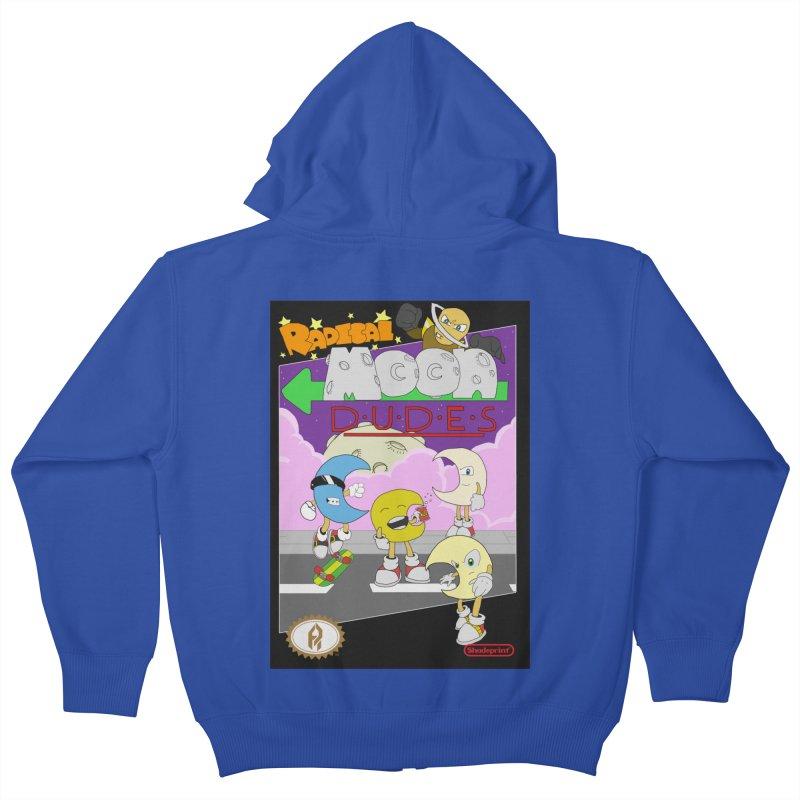 Radical Moon Dudes (Official Box Art) Kids Zip-Up Hoody by Shadeprint's Artist Shop