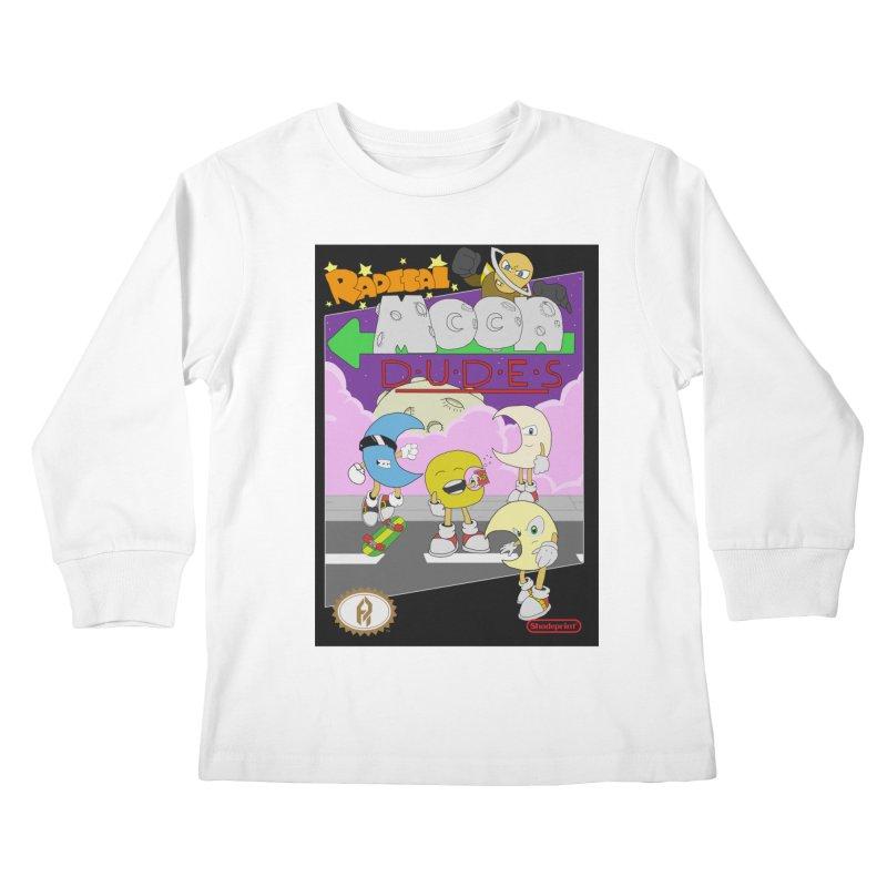Radical Moon Dudes (Official Box Art) Kids Longsleeve T-Shirt by Shadeprint's Artist Shop