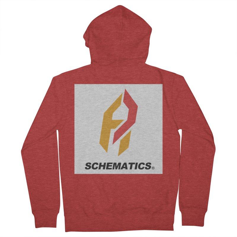 Schematicai Logo. Men's Zip-Up Hoody by Shadeprint's Artist Shop