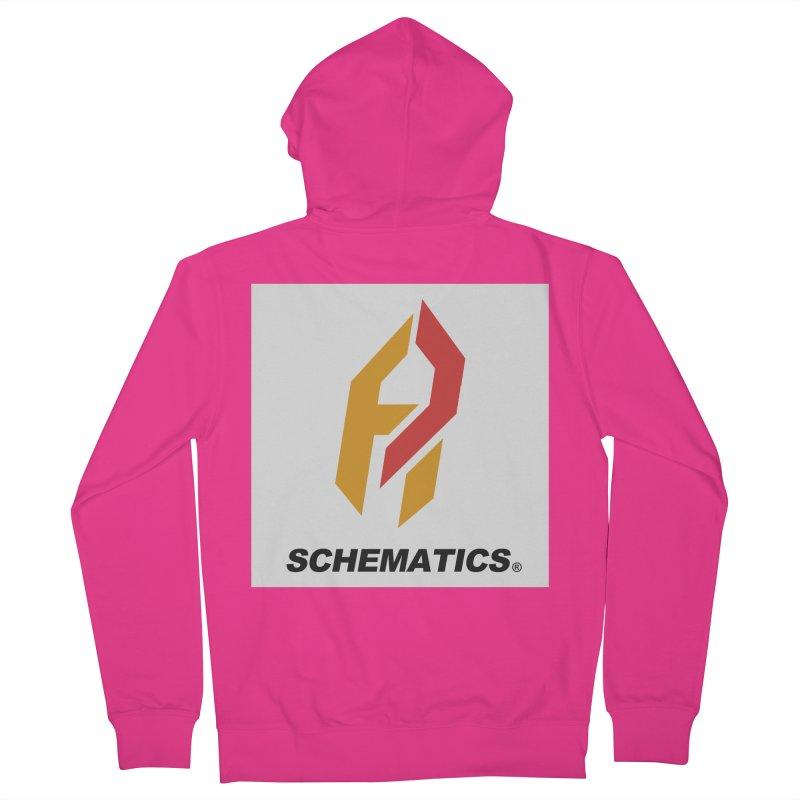 Schematicai Logo. Men's French Terry Zip-Up Hoody by Shadeprint's Artist Shop