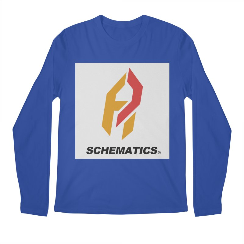 Schematicai Logo. Men's Regular Longsleeve T-Shirt by Shadeprint's Artist Shop