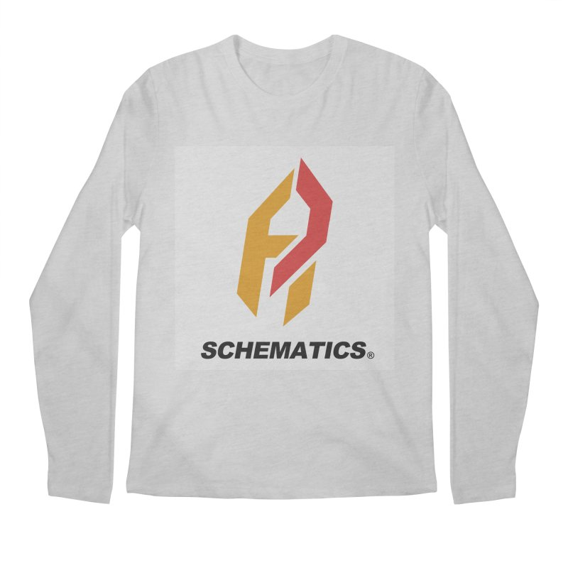 Schematicai Logo. Men's Longsleeve T-Shirt by Shadeprint's Artist Shop