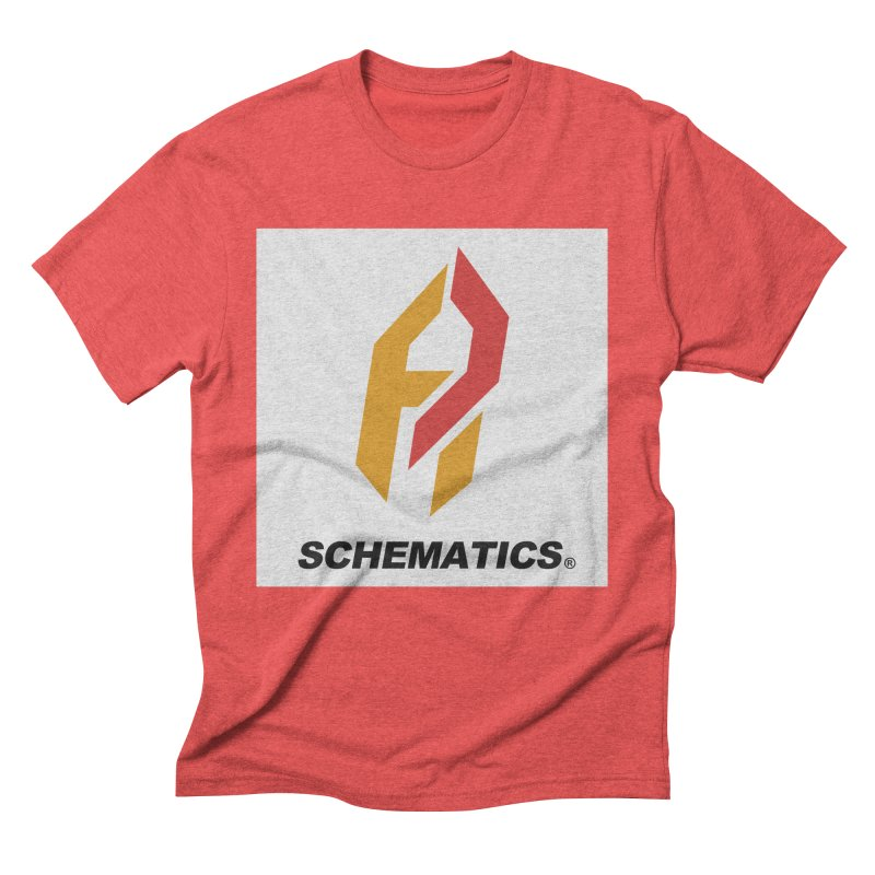 Schematicai Logo. Men's Triblend T-Shirt by Shadeprint's Artist Shop
