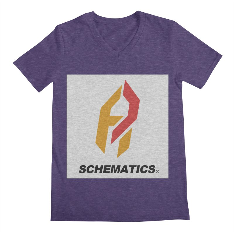 Schematicai Logo. Men's V-Neck by Shadeprint's Artist Shop
