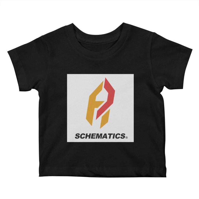 Schematicai Logo. Kids Baby T-Shirt by Shadeprint's Artist Shop