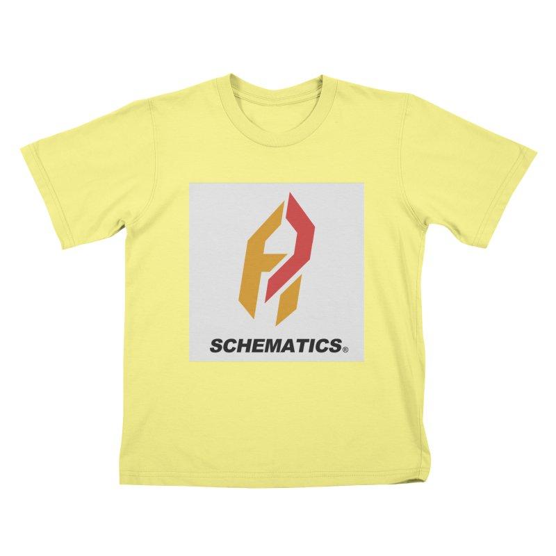 Schematicai Logo. Kids T-shirt by Shadeprint's Artist Shop