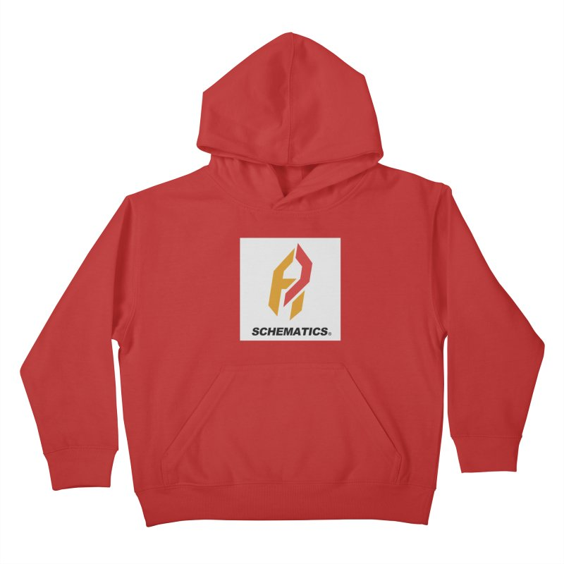 Schematicai Logo. Kids Pullover Hoody by Shadeprint's Artist Shop