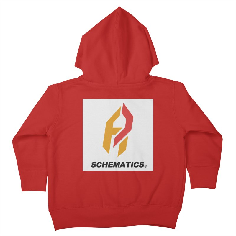 Schematicai Logo. Kids Toddler Zip-Up Hoody by Shadeprint's Artist Shop