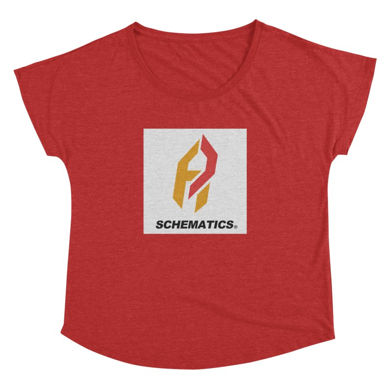 Schematicai Logo. Women's Dolman Scoop Neck by Shadeprint's Artist Shop