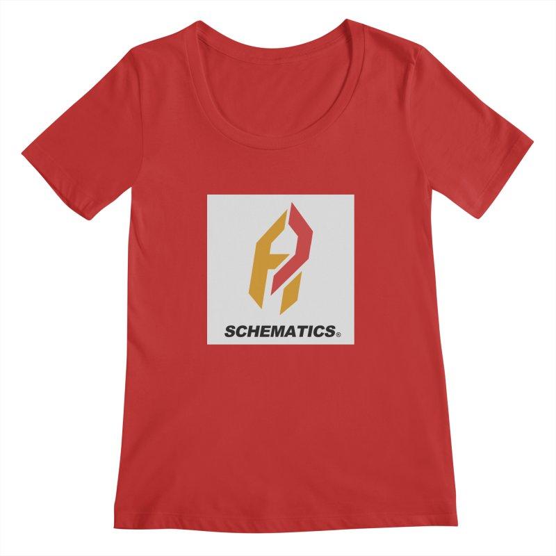 Schematicai Logo. Women's Scoopneck by Shadeprint's Artist Shop