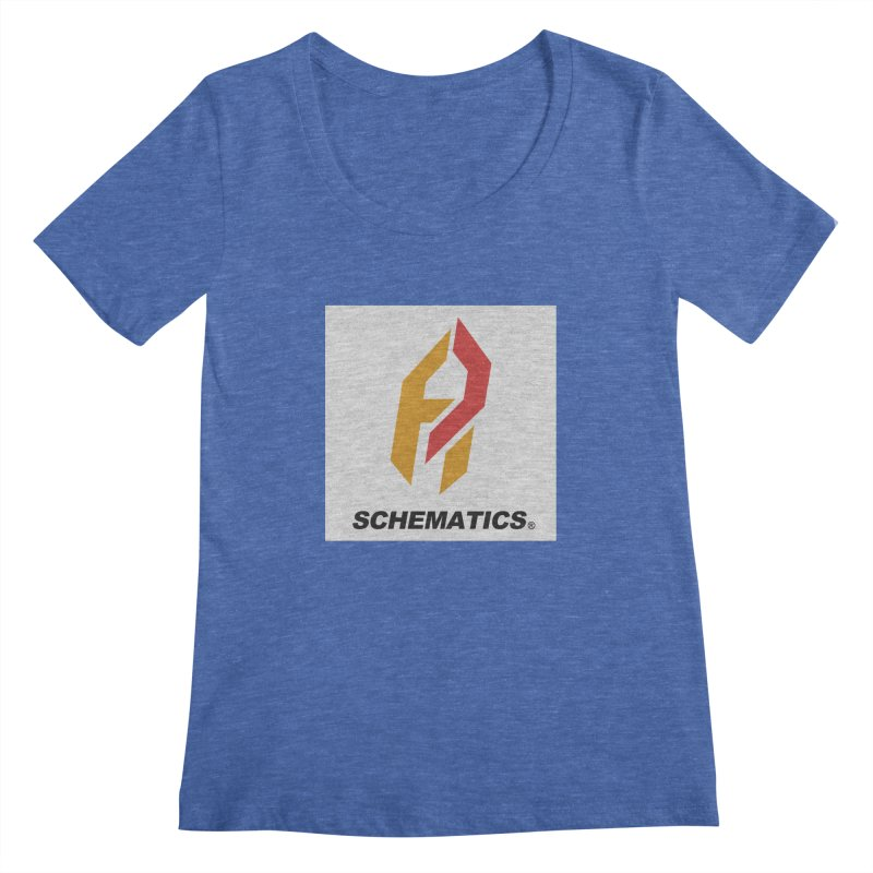 Schematicai Logo. Women's Regular Scoop Neck by Shadeprint's Artist Shop