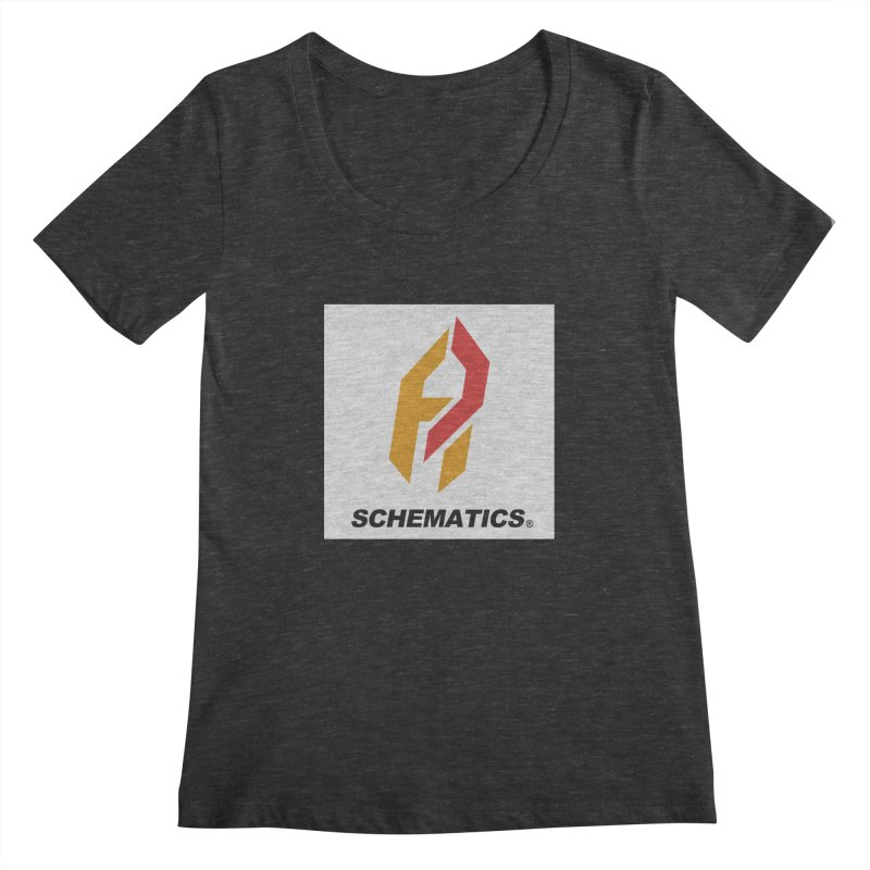 Schematicai Logo. Women's Scoopneck by Shadeprint's Artist Shop