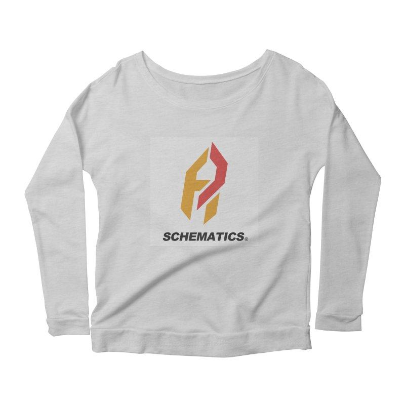 Schematicai Logo. Women's Longsleeve Scoopneck  by Shadeprint's Artist Shop