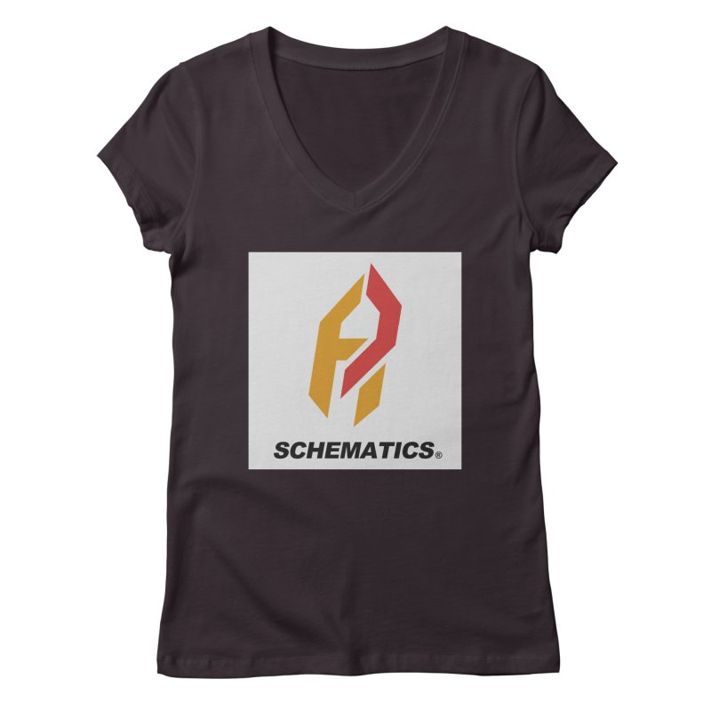 Schematicai Logo. Women's V-Neck by Shadeprint's Artist Shop